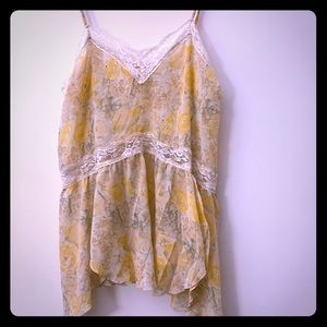 Intimately Free Floral Lace Tank